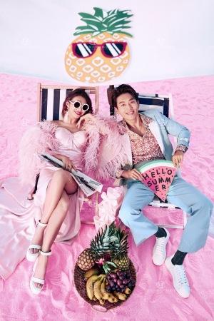 2021 微旅拍婚纱照 粉色沙滩